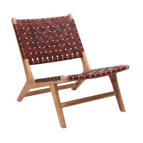 Kilroy Indbo Loungestol brun læder