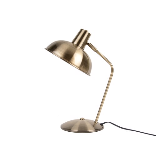 Image of   Present Time Bordlampe Hood Brushed Gold