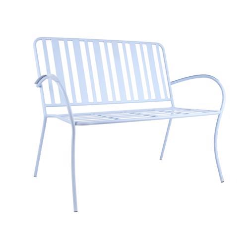 Køb Leitmotiv havebænk Lines blå