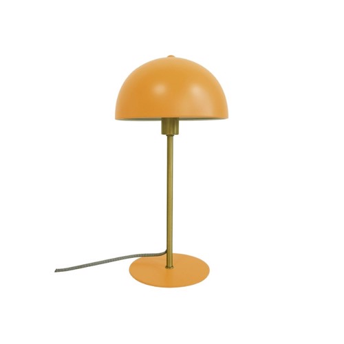 Image of   Present Time bordlampe Bonnet i gul metal