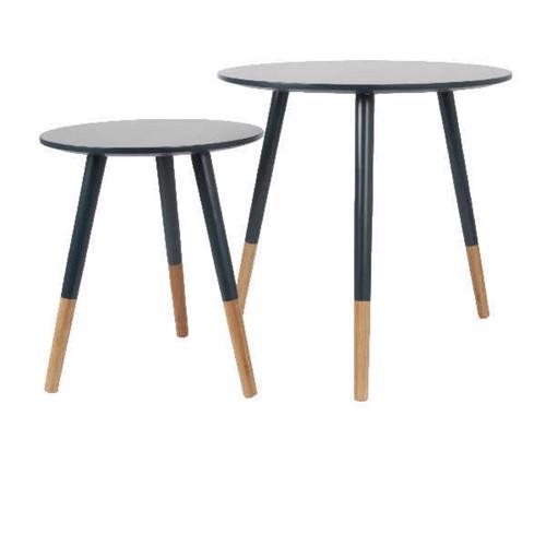 Image of   Present Time bord sæt Graceful i mørkeblå og træ.