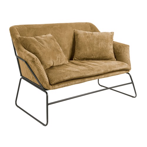Present Time Glam sofa i lysebrun fløjl