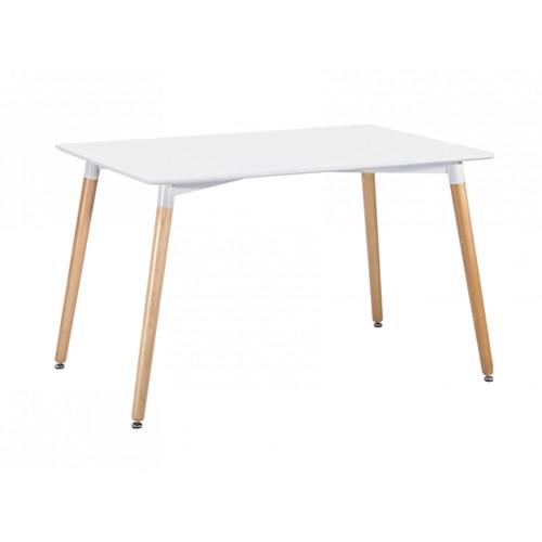 Image of   Present Time Elementary spisebord i hvid og bøgetræ