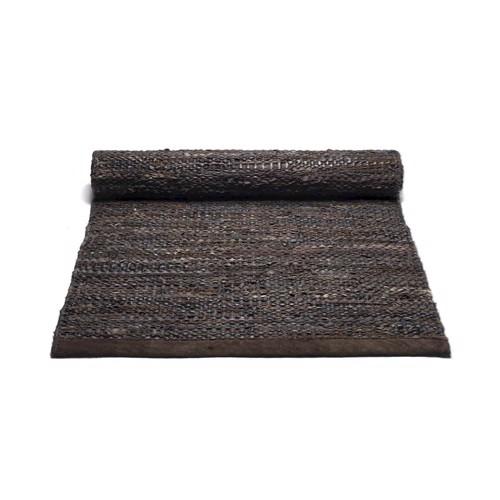 RUG Solid Læder tæppe Choko 60 x 90