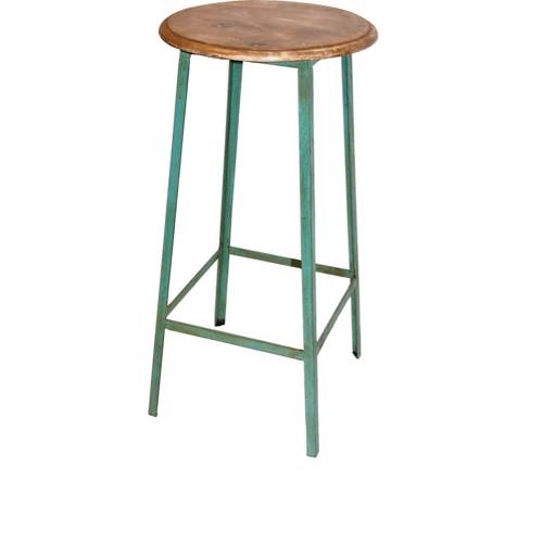 Image of   Trademark Living Taburet grøn høj