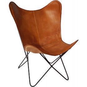 Trademark Living Flagermusstol brun læder