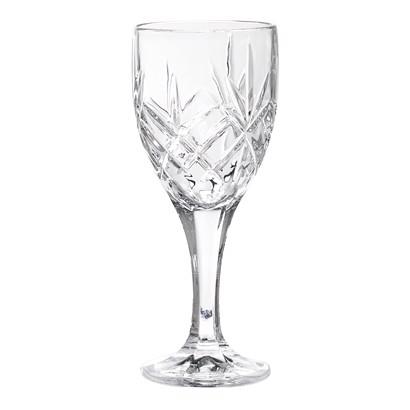 Image of   Bloomingville vinglas i klar glas krystal look