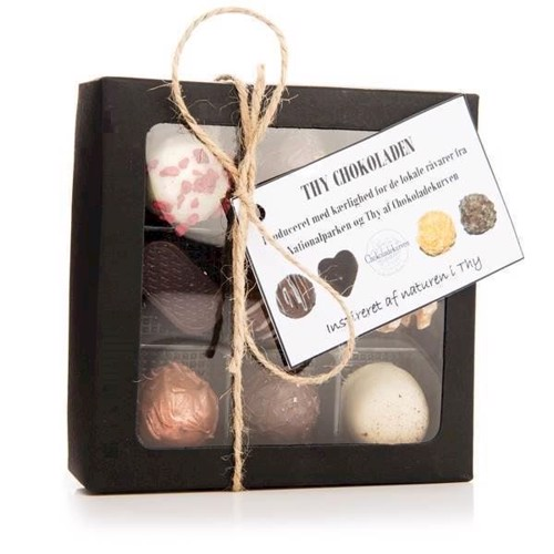 Image of   Chokoladekurven - Håndlavet thy chokolade 9 stk.