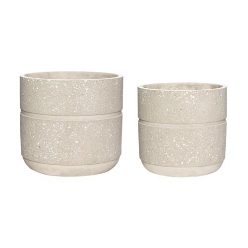 Image of   Hübsch urtepotter i beige beton