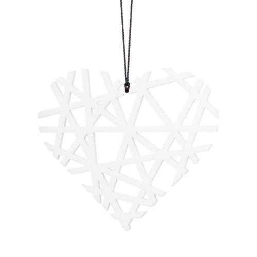 Felius Design Julepynt julehjerter hvid streg