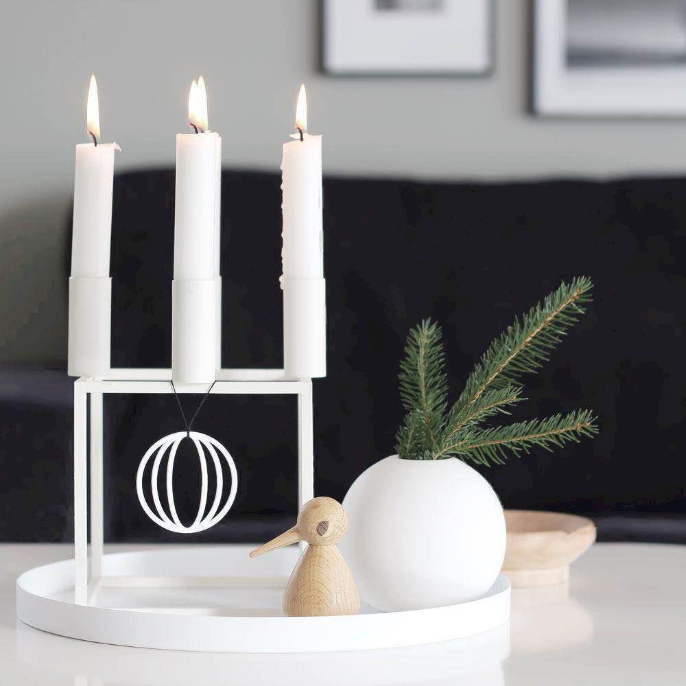 7f02e14cdb0 Felius Design Julepynt julekugler 3 i en hvid