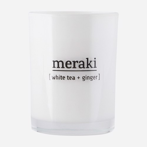 Meraki Duftlys White Tea
