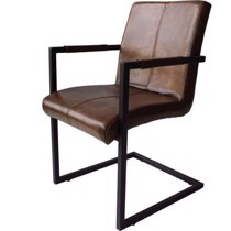 Trademark living loungestol antik brun