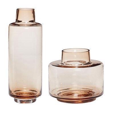Image of   Hübsch Vaser brun glas