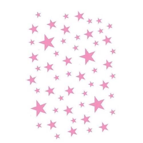 Deko My Dear Wallstickers Stjerner lyserøde
